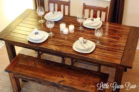 pottery barn farm table pottery barn inspired diy dining bench plans