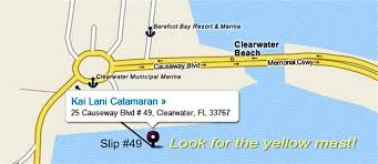 Map Of Clearwater Beach Florida by Ap And Directions To Kai Lani Catamaran On Clearwater Beach