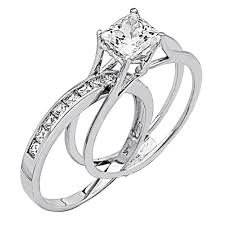 wedding rings bridal set jewellery trio wedding ring sets