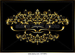ornaments gold on black stock photos ornaments gold on black