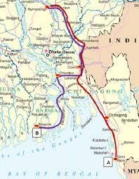 Map Routes map showing the two transportation routes of hilsa ot figure
