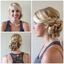 bridal bun hairstyle women medium haircut
