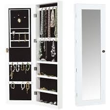 Wall Mount Jewelry Cabinet Free Standing Jewellery Cabinet Uk Monsterlune
