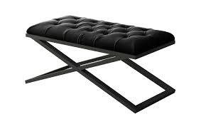 calix black velvet bench