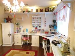 Sewing Room Decor Craft And Sewing Room Like The Uplit Shelf Around The Top Of The