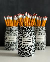Stylish Desk Organizers by Desk Organizer Idea Composition Book Mason Jar Mason Jar Crafts