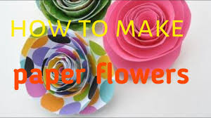 how to make paper flowers small children learn 5 minutes