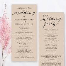 printable wedding program template wedding program template printable wedding program diy
