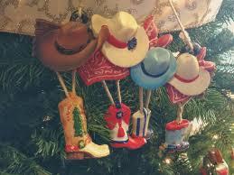 cowboy tree ornaments lights decoration