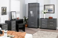Black High Gloss Bedroom Furniture by Grey Bedroom Furniture Sets Ebay