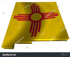 Map Of New Mexico by Flag Map New Mexico Stock Illustration 73118782 Shutterstock