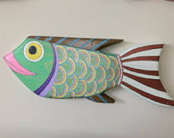 wooden fish wooden fish decor wood fish wall wood wall