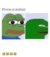 Meme Vs Meme - iphone vs android android meme on me me