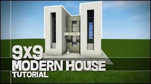 Modern House Minecraft Minecraft House Tutorial 9x9 Modern House Best House Tutorial