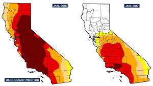california map drought before after images illustrate california s drought recovery