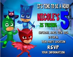 custom invites pj masks invitation template songwol 34fbfd403f96