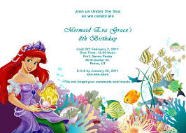 birthday invitation templates mermaid birthday invitations