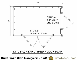 shed floor plans 6x10 shed plans 6x10 storage shed pre hung door