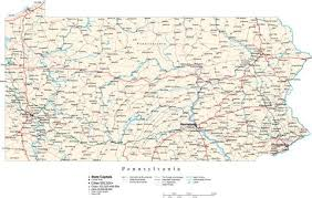 pennsylvania state map pennsylvania state map in fit together style to match other states