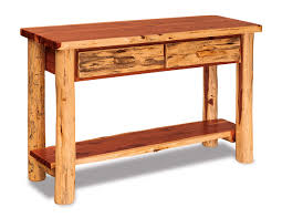 Sofa Tables With Drawers by Living Room Dutchman Log Furniture