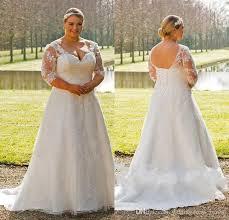 Custom Wedding Dress Discount Vintage Plus Size Wedding Dresses 2017 V Neck Sheer Half