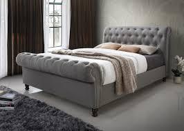 Suede Bed Frame Beige Suede Bed Frame Bed Frames Ideas