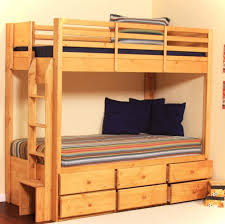 Low Cost Bunk Beds Bedroom Low Cost Oak Wood Loft Bed With Attached Desk And