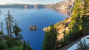 Oregon landscapes images Calm cliffs crater lake forests hills islands lakes landscapes jpg