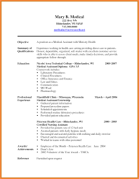 medical scribe resume resume name