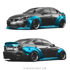 lexus is 250 custom black lexus is250 is350 widebody kit by clinched flares