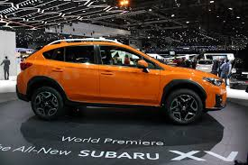 subaru orange crosstrek 2018 subaru crosstrek debuts with better off road capability
