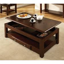 coffee table square shape brown on with