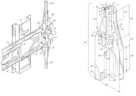 patent us6238024 linkage member for an anti tip interlock device