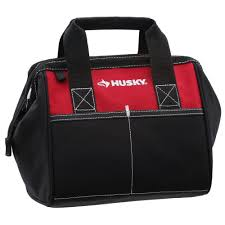 husky 10 in tool bag red 82124n14 the home depot