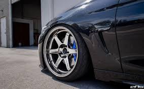 stanced rolls royce bmw 428i coupe sitting on volk te37 wheels