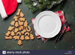 dinner plate silverware fir tree gingerbread cookies