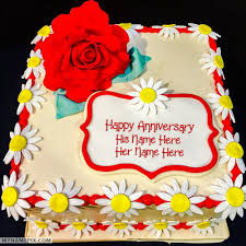 wedding anniversary cakes happy anniversary cake with name