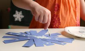 q tip painted snowflake crafts no time for flash cards