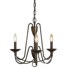Williamsburg Chandelier Shop Allen Roth Wintonburg 18 In 3 Light Aged Bronze