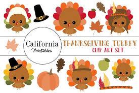 thanksgiving turkey clip illustrations creative market