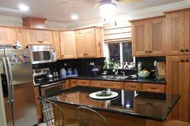 Dark Kitchen Countertops - wonderful inspiration kitchen colors with oak cabinets and black