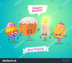 happy easter greeting card easter cake stock vector 379889506