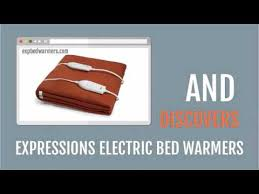 Aqua Bed Warmer Expressions Electric Bed Warmer Youtube