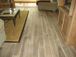 brown gloss subway porcelain wood tile with oak accent interior