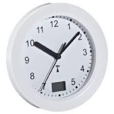 badezimmer uhr basic clock funk badezimmeruhr mit temperaturanzeige de