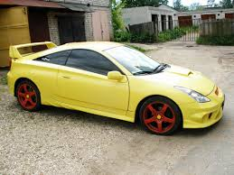 yellow toyota 3dtuning of toyota celica coupe 2005 3dtuning com unique on line