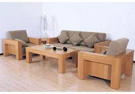 Living Room Sofa Set Designs Simple Wooden Sofa Set Design For Minimalist Living Room Sofa