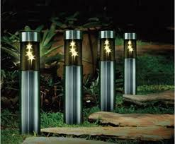 Led Patio Light Outdoor Lighting Stainless Solar Post L Led Patio Lights Yard