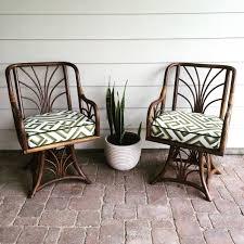 Fabric Swivel Chairs by Gorgeous Bamboo Rattan Swivel Chairs Custom Made Cushions Using