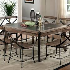 rustic metal and wood dining table metal and wood dining set terrific metal and wood dining room table